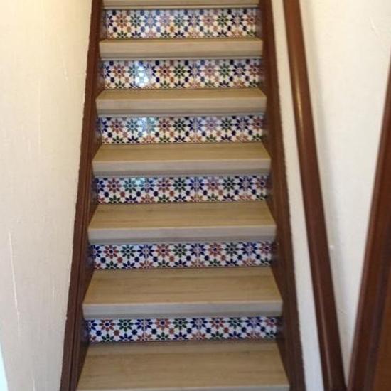 Referenz Treppenrenovierung Treppenstufen mit Muster - Parkett Scherb aus Essen
